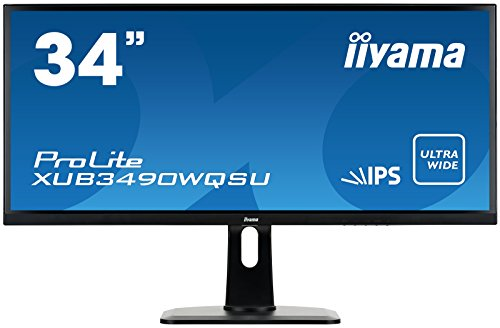 "iiyama Prolite XUB3490WQSU-B1 LED Display 86,4 cm (34"") Wide Quad HD Plana Mate Negro - Monitor (86,4 cm (34""), 3440 x 1440 Pixeles, Wide Quad HD, LED"