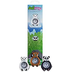 Anisnap bears Kids watches interchangeable snap on wrist splash proof watch for kids the perfect girls watches and boys watches that's a time teacher and the perfect birthday gifts or Christmas gifts