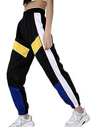 Mujer Pantalones Harajuku Hip Hop Streetwear Pantalones Estilo Callejero  Empalmados Pantalones Deportivos De Cintura Alta S 7dac1470fba