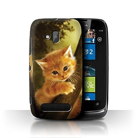 Officiel Elena Dudina Coque / Etui pour Nokia Lumia 610 / Le Brave/Chaton Design / Les Animaux Collection