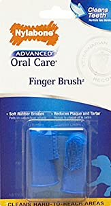 Nylabone Advanced Oral Care Dog doigt Brosse, Lot de 2