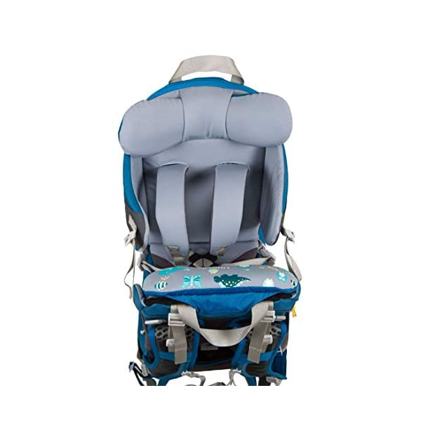 "LittleLife Unisex's Freedom S4 Child Carrier (blue) Back, One size LittleLife Anatomically shaped child seating area, with neck support and soft face pad Includes rear view mirror, sun shade and Foot stirrups Suitable for adults 1.57 - 1.87M/ 5'2"" - 6'4"" 7"