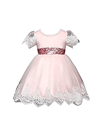 ZAMME Girls Princess Kids Wedding Dresses Christmas Party