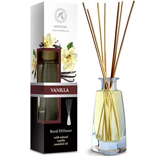 Diffusore profumato vaniglia 100ml - con bastoncini di bambù - olio essenziale vaniglia - fragranza intensa e duratura - senza alcool - aroma diffuser - aromaterapia