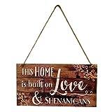 HEALIFTY Hängende dekorative Holz Zeichen, Holz nach Hause Indoor hängen Board Anhänger kreative hängende Anhänger Dekor für Schlafzimmer Wohnzimmer Esszimmer