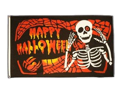 Fahne / Flagge Happy Halloween 5 + gratis Sticker, Flaggenfritze®