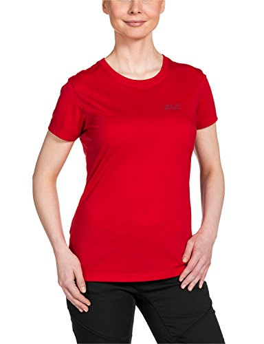 Jack wolfskin t-shirt pour femme essential t function 65 w Rouge - Rouge