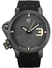 Shark Herren Armbanduhr Futurismus Design Sportuhr XXL Größe Silikon Band SH519