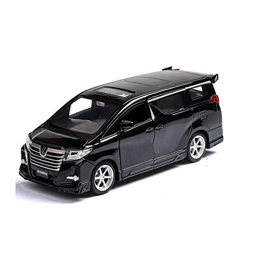 RENJUN Modellauto Toyota Alpha Modell 1:32 Simulation Simulation Druckgusslegierung Modell Kindergeschenke 15.6x5.8x5.8cm (Farbe : Schwarz)
