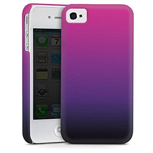 Apple iPhone 5s Housse Étui Protection Coque Rose vif Noir Dégradé de couleur Cas Premium mat