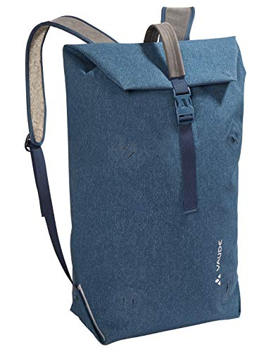 VAUDE Wolfegg, Nachhaltig innovativer Rucksack für den modernen Alltag, 24l, Huckepack-Funktion mit Egg Taschen, Baltic sea, one Size