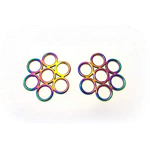 PS Pferdeartikel Regenbogenfarben – Gebissloser Zaum Flower – Multicolour Rainbow