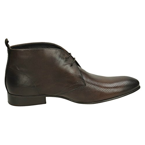 Base London Sandales Compensées homme Washed Perf Brown (Brown)