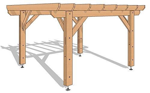 Pergola 400/400 en KIT - 16 m2 - Livraison Offerte - Qualité supérieure, montage facile - Fabricant spécialiste de charpente bois 100% Française. (douglas naturel)