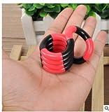 Fiddle Juquete,Fiddle Fidget,Juquete Antiestrés Juguetes Divertidos Curvo Suave para los Dedos de Adultos y niños(Rojo/Negro/Amarillo)