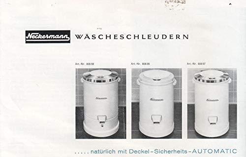 Neckermann Wäscheschleudern ...natürlich mit Deckel-Sicherheits-Automatic Prospekt