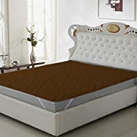 "Daksh Water Resistant & Dustproof Mattress Protector Small Bed Size 36"" X 72"" -Brown-for Small Size Bed Mattress- with…"