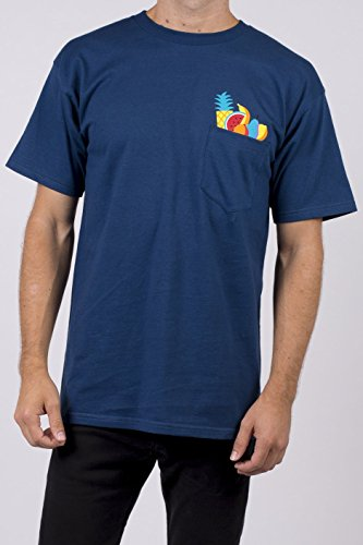 Neff Herren Pocket Short Sleeve Tee T-Shirt, Navy, Groß -
