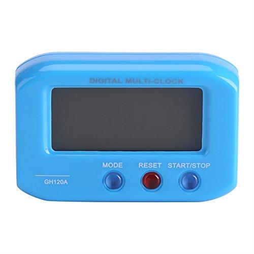 GLOGLOW Tragbare Reise-Uhr LCD-Display Digital-Wecker mit Snooze-Funktion, Smart-Hintergrundbeleuchtung Tisch Schreibtisch Auto-Dekor batteriebetriebene Uhr(Blau)