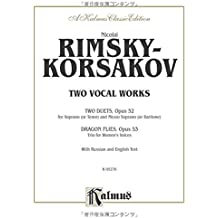Two Vocal Works, Op. 52, 53: Russian, English Language Edition (Kalmus Edition)