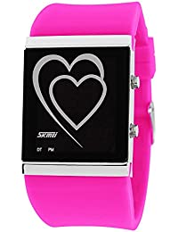 ufengke® kreative herz führte digitalen gelee armbanduhren,paar paar liebhaber romantischer liebe erzählen geschenk handgelenk armbanduhren,rote rose