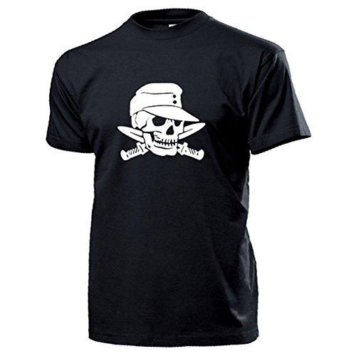 Heeres Totenschädel mit Feldmütze Wh Bajonett Heer Infanterie Wk Schädel Soldat Kämpfer Krieger - T Shirt Herren XXL #17739 (Krieger-schädel-t-shirt)