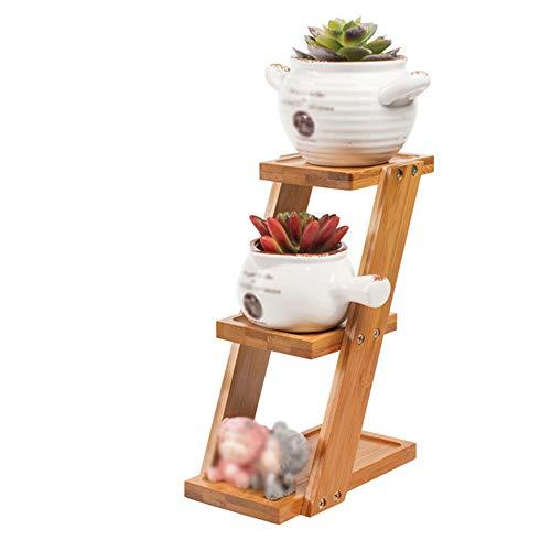 Support de fleurs Bureau Fleur Stand Multi-Couche Balcon Table Basse Solide Bois Plante présentoir Petit Simple Fleur Pot Rack