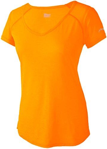 CRIVIT® Damen leichtes Funktions-Shirt (Gr. S 36/38, Neon-Hellorange)