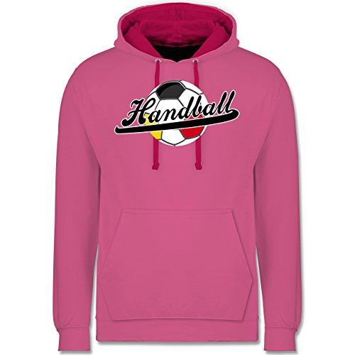 Handball - Handball Deutschland - Kontrast Hoodie Rosa/Fuchsia