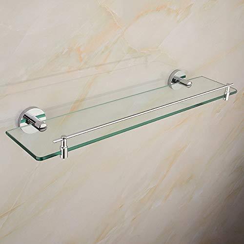 WYY Bathroom Shelf HPLL Badezimmer-Glasrahmen, Badezimmerspiegel aus Edelstahl mit Spiegel und Ablage für Frisiertisch und Badezimmer 60cm/23.6inch