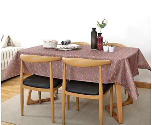NNPE (TLMT) Tischtuch Rechteckig bedrucktes Tee-Tischtuch Anti- Verdicken Sie das Tischtuch Pastoral Waterproof hot Wash Einweg (Color : 140 * 140cm) -