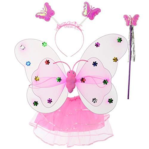 Engel Tutu Zubehör Kit - Yajiun Feenflügel für Kinder, Kostüm für