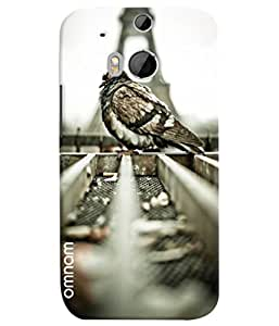 Omnam Bird Close Up At Eifil Tower Designer Back Cover Case For HTC One M8