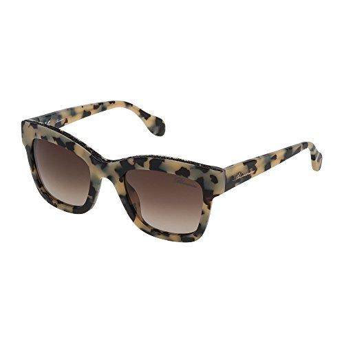 Blumarine occhiali da sole donna avana marrone beige lenti brown gradient sbm704 07ux 51-22-135