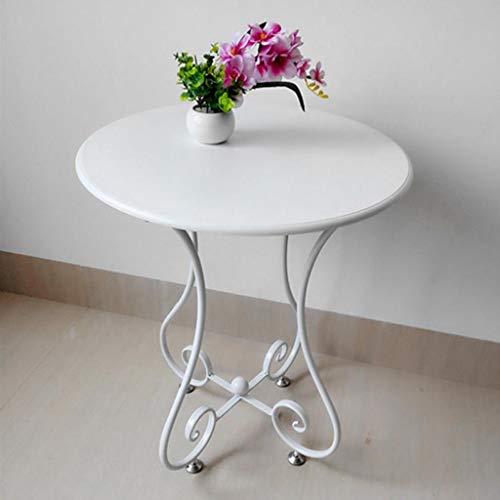 M-JH Table d'appoint, Canapé en Bois Massif Table d'appoint Table Basse Table Basse Chambre Ronde Salon Blanc Petite Table Basse (Taille : 47cm)