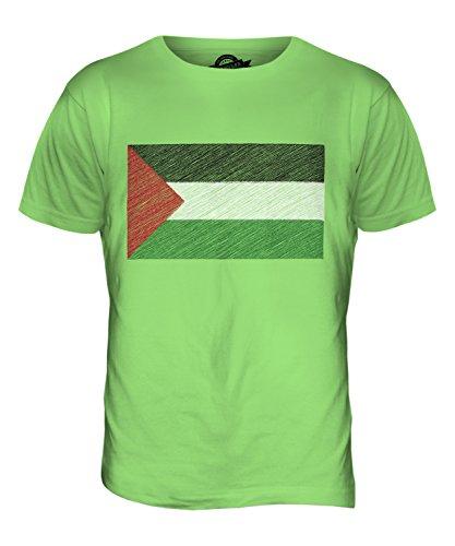 CandyMix Palestine Kritzelte Flagge Herren T Shirt Limettengrün