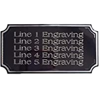 Emblems-Gifts - Placa autoadhesiva Personalizable (70 x 40 mm), Color Negro