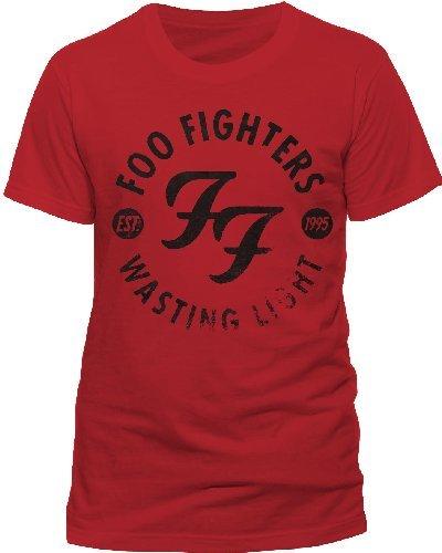 Collectors mine - foo fighters - wasting light, t-shirt da uomo, manica corta, collo rotondo, rosso(rot (rot)), taglia l
