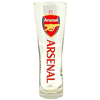 Arsenal Official Tall Beer Glass - Multi-Colour