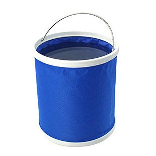 pliage toile Godet pêche seau jardinage Portable,blue