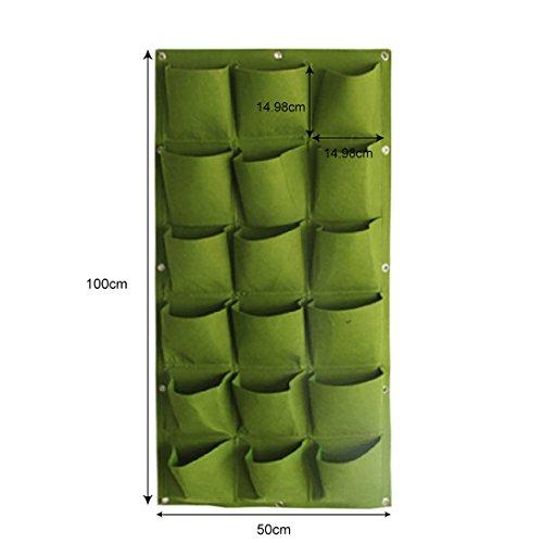 UniEco Wand-Pflanzkissen hängend vertikale Pflanztasche für Wandbegrünung mit 18 kleinen Pflanzbeuteln 100x50cm,Schwarz