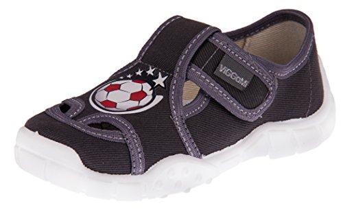 Viggami ragazzo pantofola con chiusura in velcro adas, multicolore (grau / ball), 33 eu