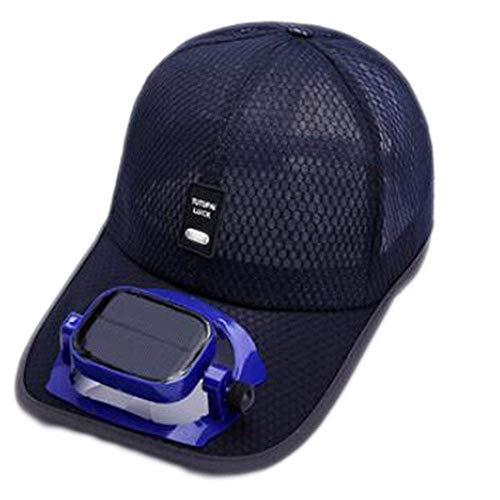 Gebläsekühlung Baseball Hut Cap Solar USB Dual-Aufladung draussen Schatten Sonnenschutzmittel Sportreisehut, 5 Farben (Color : #1, Size : Head Circumference (56-62cm)) -