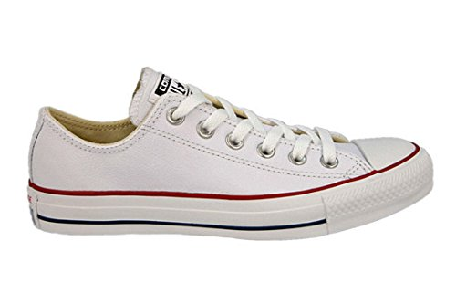 Chuck Taylor Ct Ox Leather Zapatillas de deporte, Unisex niños, Blanco (White 100), 35 EU (2.5 UK) Converse