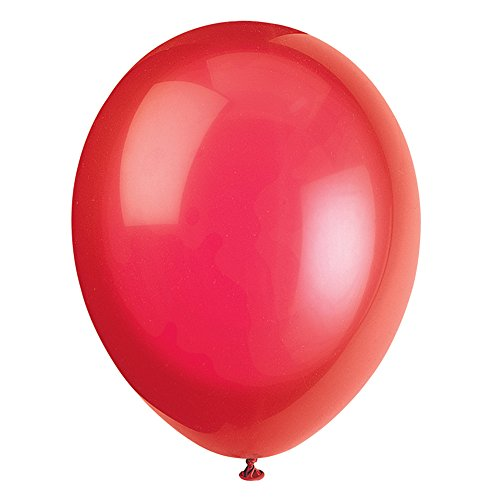 Unique Party Globos de Fiesta de Látex, 50 Unidades Color ((scarlet red) pack of 50 56840