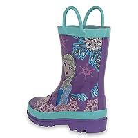 Disney Frozen Girls Anna and Elsa Pink Rain Boots (Toddler/Little Kids)