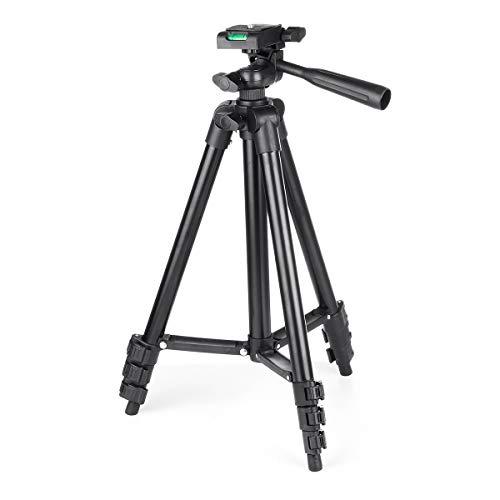 Industrie Telefon-Kamera-Selbststock Einbein-Stativ Flexible Stativhalterung Halter-Klipp mit Tasche Protable Adjustable (Farbe : Schwarz)