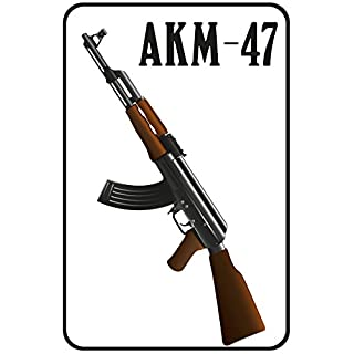 'Akm Barschild, Kala Kalaschnikov AK-47Weapon, Dekoschild