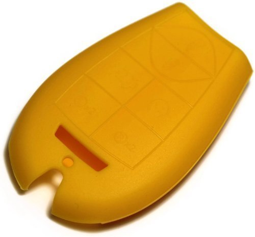 dantegts gelb Silikon Schlüsselanhänger Schutzhülle Smart-Fernbedienung Beutel Schutz Schlüssel Kette passend für: DODGE Challenger 09-12 (Dodge Challenger Fernbedienung)