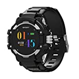 KingProst-Fitness Bluetooth Smartwatch Wasserdicht Sport Uhr Fitness Tracker Armband Fur Android iOS Samsung Huawei Damen Herren, SchrittzäHler Pulsuhren GPS Schlafmonitor Uhr (Grau)